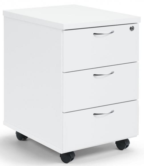 Rollcontainer mit Metallschüben Weiß