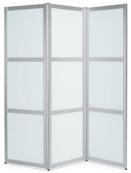 Hygienefaltschutzwand ALASKA, 3-teilige Optik 1900 | 610 | Falt-Stellwand, 3 Elemente | ESG-satiniert