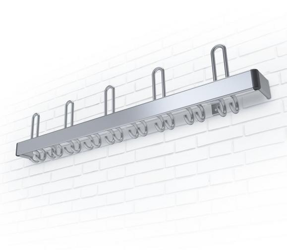 Aluminium Wandgarderobe F