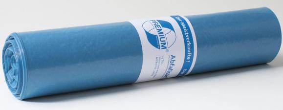 Kunststoff-Abfallsäcke, blau Blau