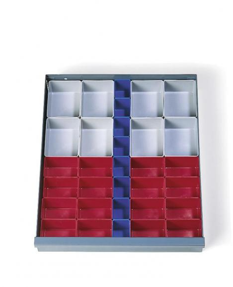 Schubladeneinteilung aus Kunststoff