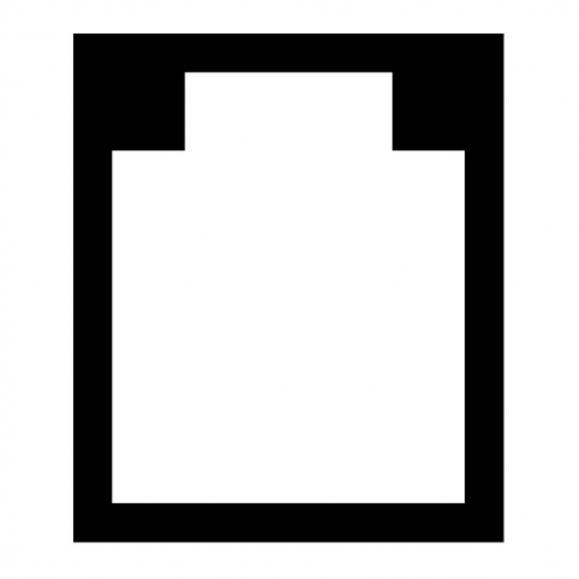 Bodenschutzmatte für Teppichböden Transparent | für Teppichböden, mit Noppen | Form U - 1168 x 1524 mm