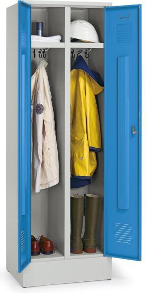 Mehrzweck-Garderoben-Stahlspind Lichtblau RAL 5012   Arbeitsstätten-Einteilung