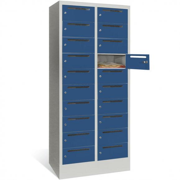 Postverteilerschrank Enzianblau RAL 5010 | 300 | 20