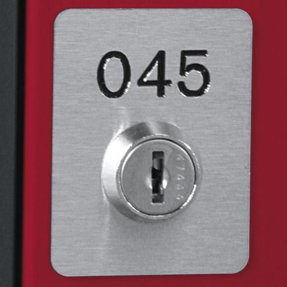 Edelstahl-Nummernschild für Kleinfachschränke