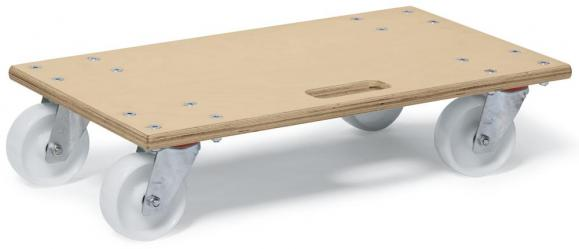 Transportroller Wood, mit Griffloch