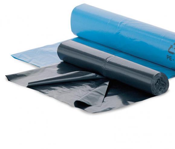 Kunststoff-Abfallsäcke, schwarz Schwarz