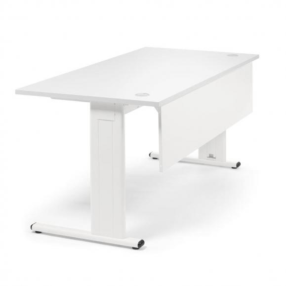 Schreibtisch Basic M MULTI MODUL Weiß | 1200 | Weiß RAL 9010