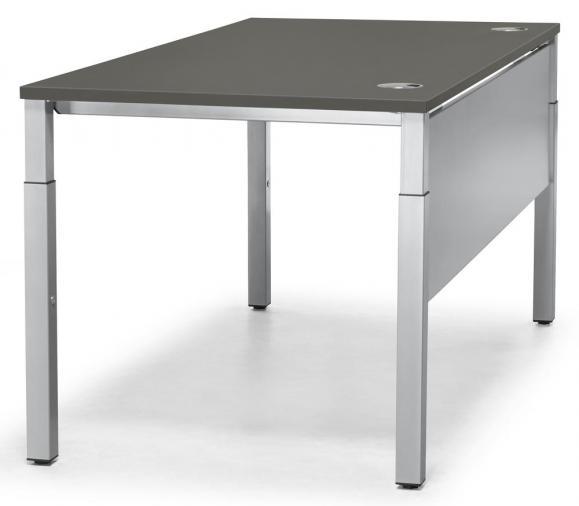 Schreibtisch 4-Fuß PROFI MODUL Anthrazit | 800 | Alusilber RAL 9006