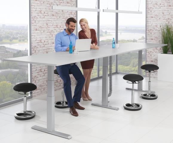 Sitz-/Stehbesprechungstisch, Rechteck - höhenverstellbar