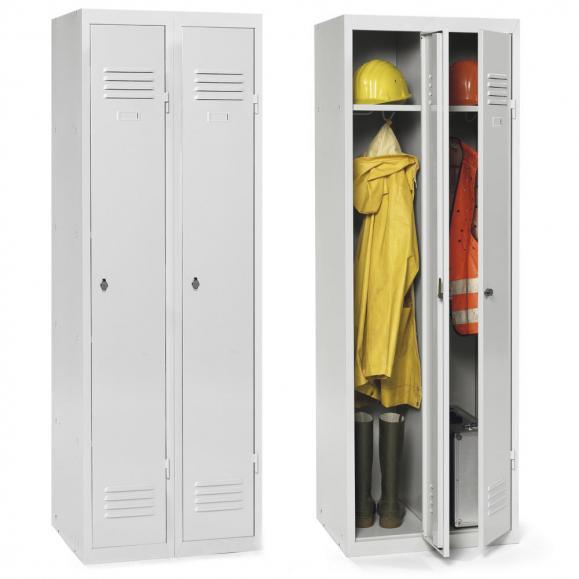 Garderoben-Stahlspind mit Sockel, zerlegt