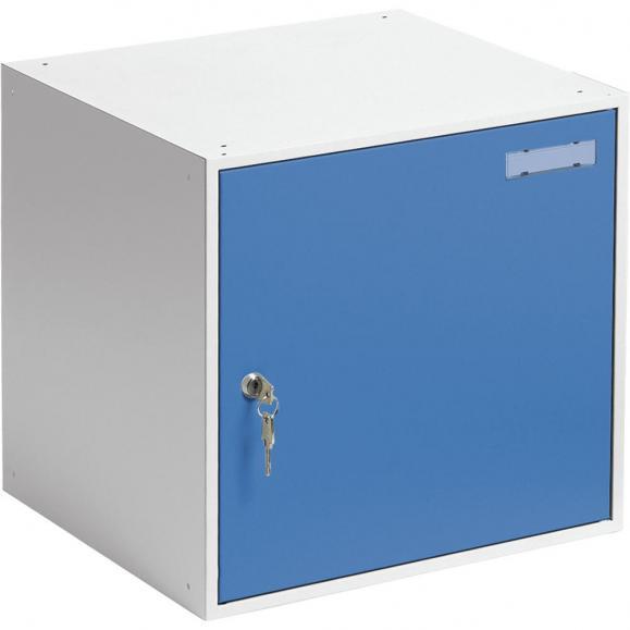 Schließfachwürfel SYSTEM SP Himmelblau RAL 5015 | B 450 x H 450 x T 450 mm