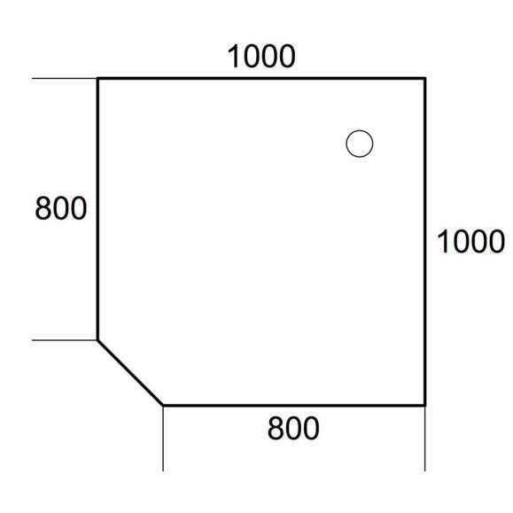 Verkettungsplatte 90° Quadrat PROFI MODUL Lichtgrau | 1000 | 90° Quadrat