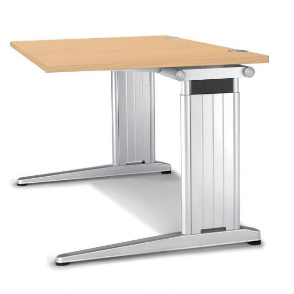 Schreibtisch C-Fuß PROFI MODUL Buchedekor | 800 | Quadrat