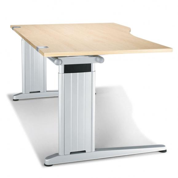 Schreibtisch Freiform C-Fuß PROFI MODUL Ahorndekor | 1600 | Freiform rechtsseitig