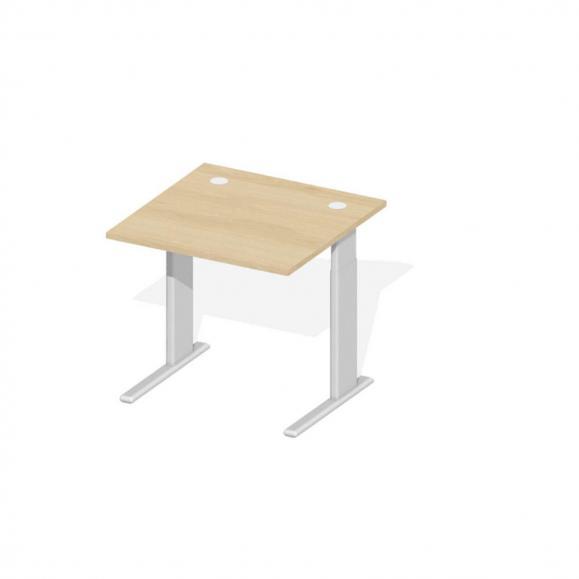 Schreibtisch Comfort M MULTI MODUL Buchedekor | 800 | Alusilber RAL 9006