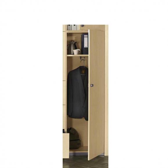 Garderobenschrank PROFI MODUL Schrankwand Buchedekor | 600 | Garderobenelement, Anschlag rechts | 1860 mm (5 OH)