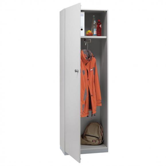 Garderobenschrank PROFI MODUL Schrankwand Lichtgrau | 600 | Garderobenelement, Anschlag links | 1860 mm (5 OH)