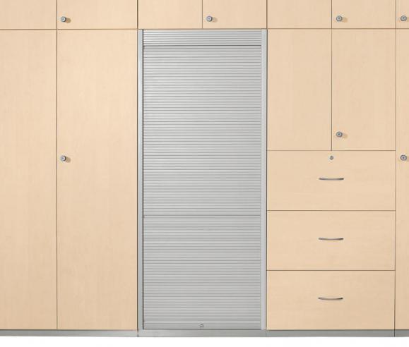 Rollladenschrank PROFI MODUL Schrankwand Ahorndekor | 800 | Rollladenelement | 1860 mm (4+1/2 OH)