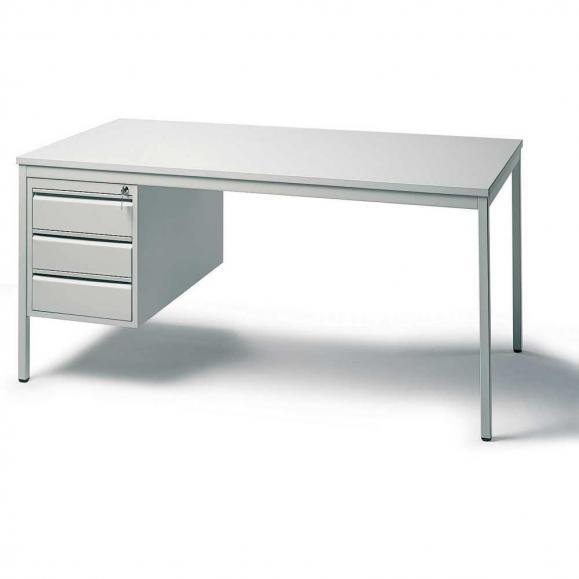 Schreibtischkombination BASE LINE Lichtgrau | 2000 | 1 Hängecontainer: Mit 3 Schüben