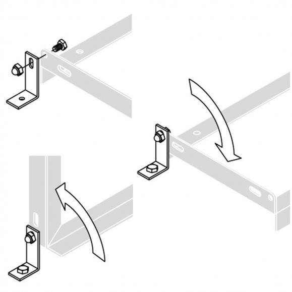 Winkel zur Bodenmontage (VE=2St.)