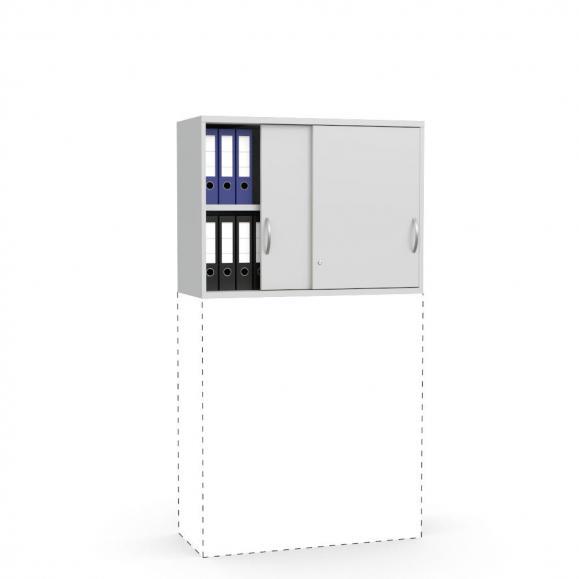 Schiebetüren-Aufsatzschrank PROFI MODUL Lichtgrau | 1000 | 750 mm (2 OH)