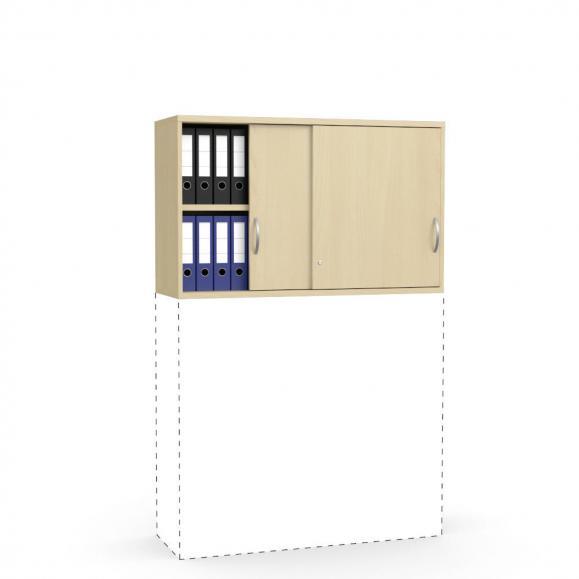 Schiebetüren-Aufsatzschrank PROFI MODUL Buchedekor | 1200 | 750 mm (2 OH)