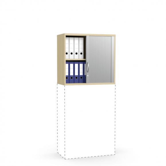 Rollladen-Aufsatzschrank PROFI MODUL Buchedekor | 800 | 750 mm (2 OH)