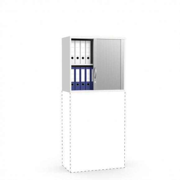Rollladen-Aufsatzschrank PROFI MODUL Weiß | 800 | 750 mm (2 OH)