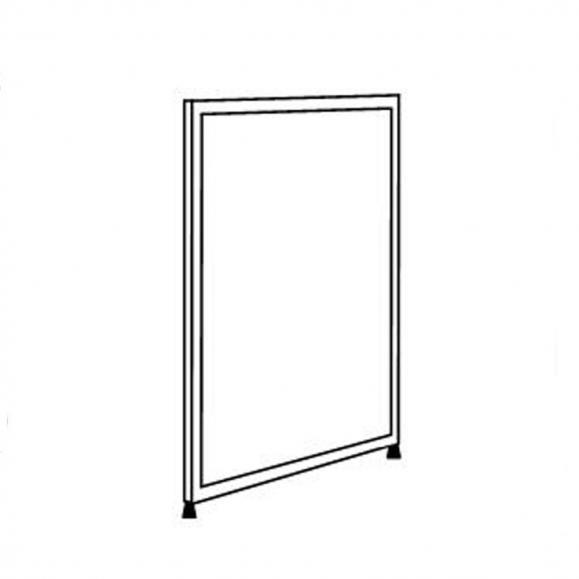 Hygieneschutzwand ALASKA, 1-teilige Optik 1380 | 1000 | Stellwand, 1-teilige Optik | Anthrazit satiniert