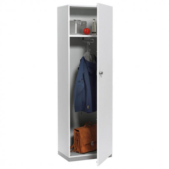 Garderobenschrank PROFI MODUL Schrankwand Lichtgrau | 600 | Garderobenelement, Anschlag rechts | 1860 mm (5 OH)