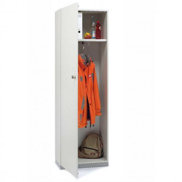 Garderobenschrank PROFI MODUL Schrankwand Weiß | 600 | Garderobenelement, Anschlag links | 1860 mm (5 OH)