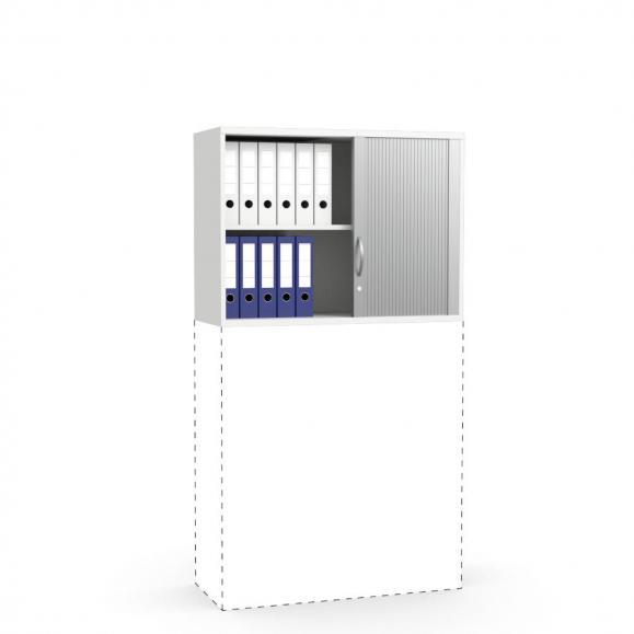Rollladen-Aufsatzschrank PROFI MODUL Weiß | 1000 | 750 mm (2 OH)