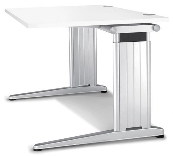 Schreibtisch C-Fuß PROFI MODUL Weiß   1200