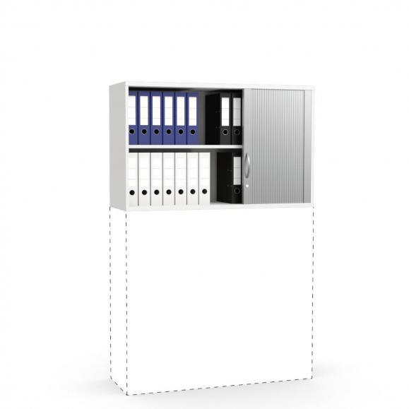 Rollladen-Aufsatzschrank PROFI MODUL Weiß   1200   750 mm (2 OH)