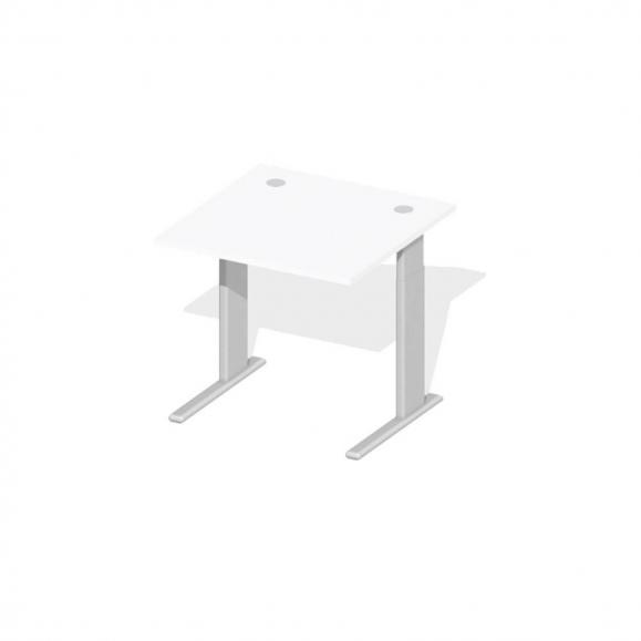 Schreibtisch Comfort M MULTI MODUL Weiß   800   Alusilber RAL 9006