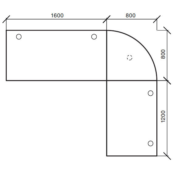 Winkelkombination Comfort 2.0 MULTI MODUL Buchedekor   2400   2000   Alusilber RAL 9006   Winkelkombination rund