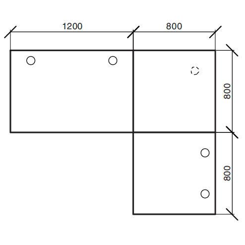 Winkelkombination Comfort 2.0 MULTI MODUL Ahorndekor | 2000 | 1600 | Alusilber RAL 9006 | Winkelkombination eckig
