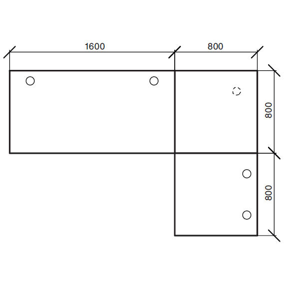 Winkelkombination Comfort 2.0 MULTI MODUL Weiß | 2400 | 1600 | Anthrazit RAL 7016 | Winkelkombination eckig