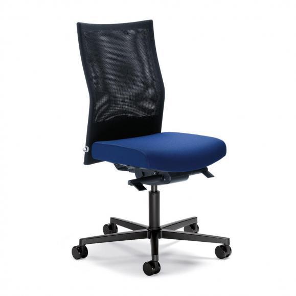 Bürodrehstuhl winSIT NET ohne Armlehnen Blau | Sitztiefenverstellung, Synchronmechanik | Polyamid schwarz