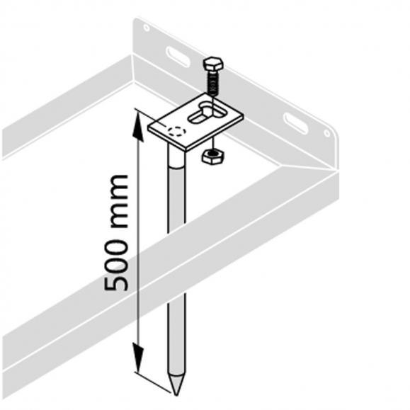 Bodenanker zur Bodenmontage (VE=2St.)