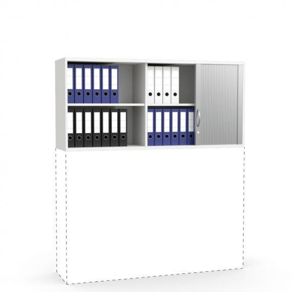 Rollladen-Aufsatzschrank PROFI MODUL Weiß | 1600 | 750 mm (2 OH)