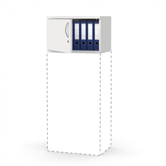 Flügeltüren-Aufsatzschrank PROFI MODUL Weiß | 600 | Türanschlag links | 390 mm (1 OH)