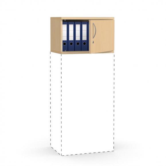 Flügeltüren-Aufsatzschrank PROFI MODUL Buchedekor | 600 | Türanschlag rechts | 390 mm (1 OH)