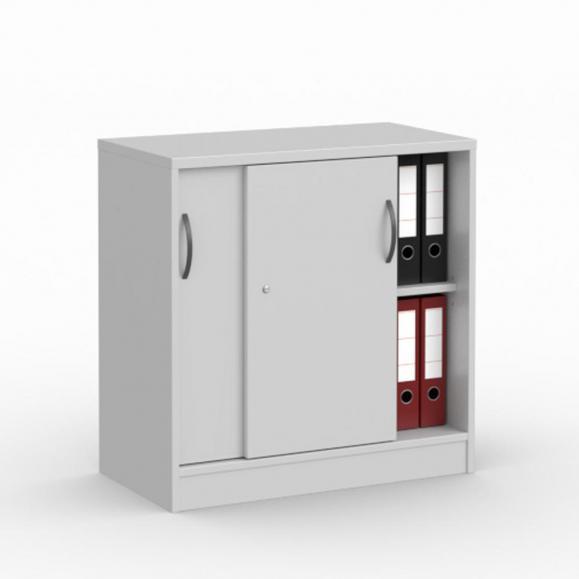 Schiebetürenschrank MULTI MODUL Lichtgrau   800   ohne Garderobe   805 mm (2 OH)