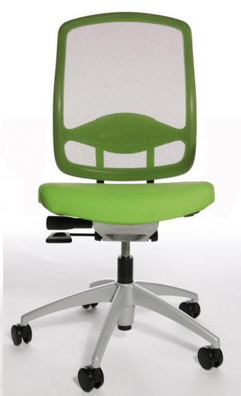 Bürodrehstuhl MATTEGO ohne Armlehnen Apfelgrün/Apfelgrün | ohne Armlehnen (optional) | Alusilber | Nein