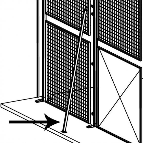 Stabilisator für Ständer, jede 1. und 4. Wand