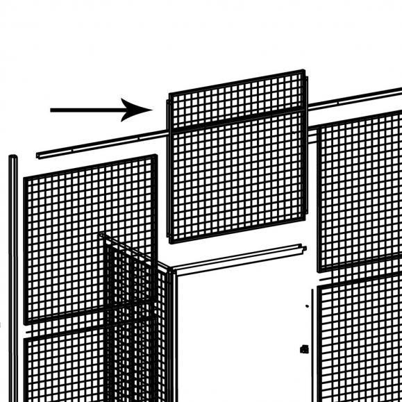 Türaufsatz aus Gitter, für Einzeltür B 1500 mm
