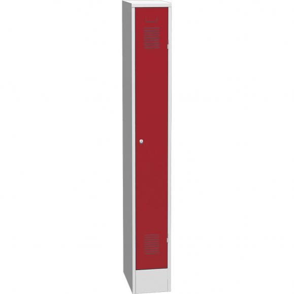 Garderoben-Stahlspind Delta PROTECT Feuerrot RAL 3000 | 250 | 1 | Zylinderschloss