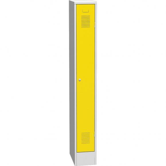 Garderoben-Stahlspind Delta PROTECT Verkehrsgelb RAL 1023 | 200 | 1 | Zylinderschloss